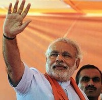 Narendra Modi tells fellow MPs not to touch his feet
