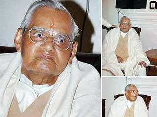 Atal Bihari Vajpayee recieves Bharat Ratna at home